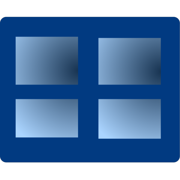 Closed Blue Window PNG Clip art