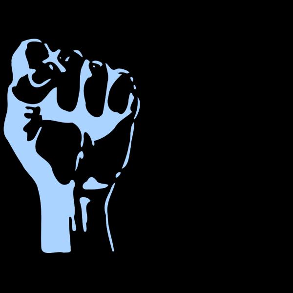 Fist Blue PNG images