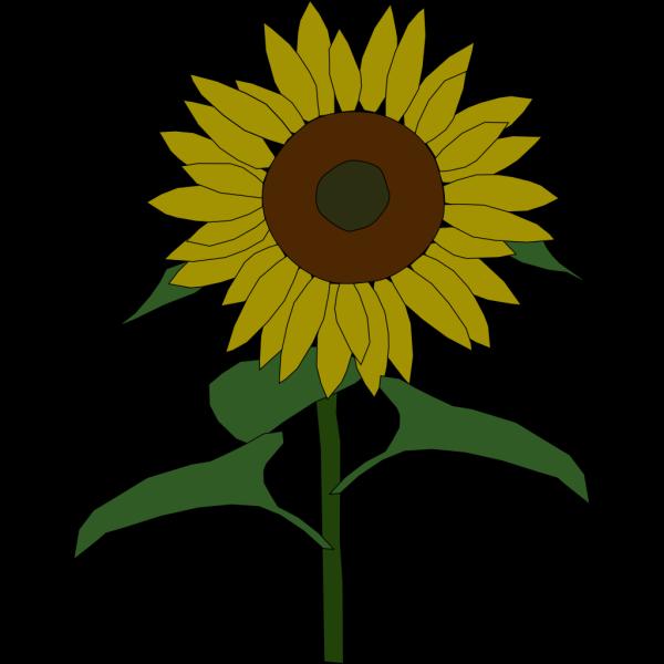 Blue Sun Flower PNG Clip art