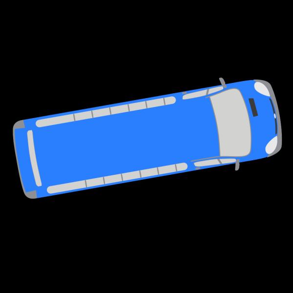 Blue Bus - 10 PNG Clip art