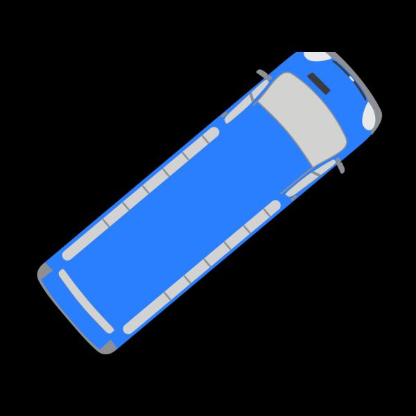 Blue Bus - 40 PNG Clip art