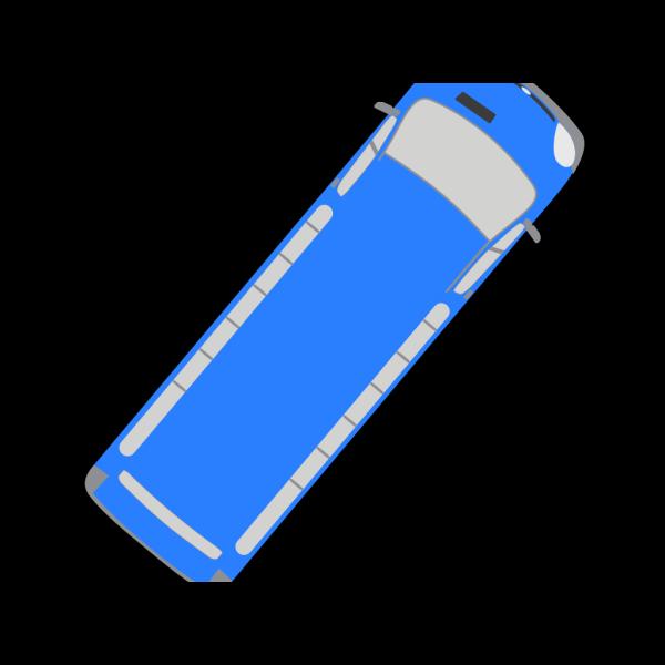 Blue Bus - 50 PNG Clip art