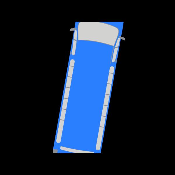 Blue Bus - 80 PNG clipart