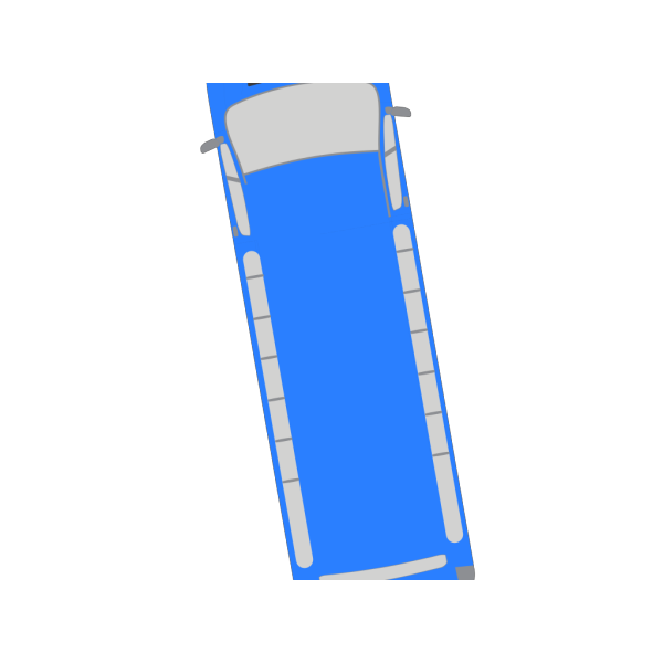 Blue Bus - 100 PNG Clip art