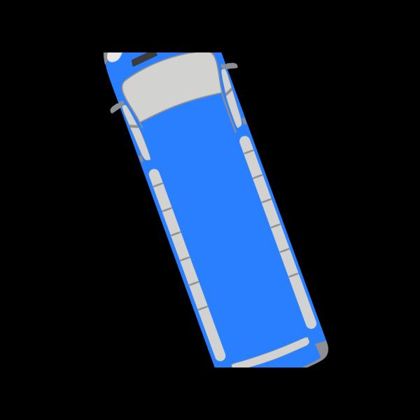 Blue Bus - 110 PNG Clip art
