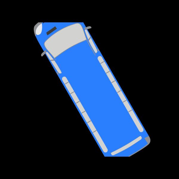 Blue Bus - 120 PNG Clip art