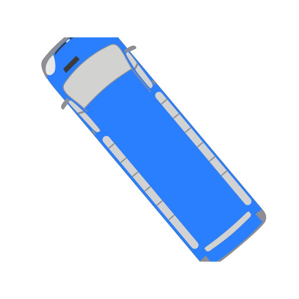 Blue Bus - 130 PNG Clip art