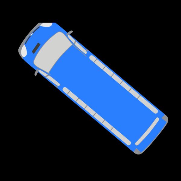 Blue Bus - 140 PNG Clip art