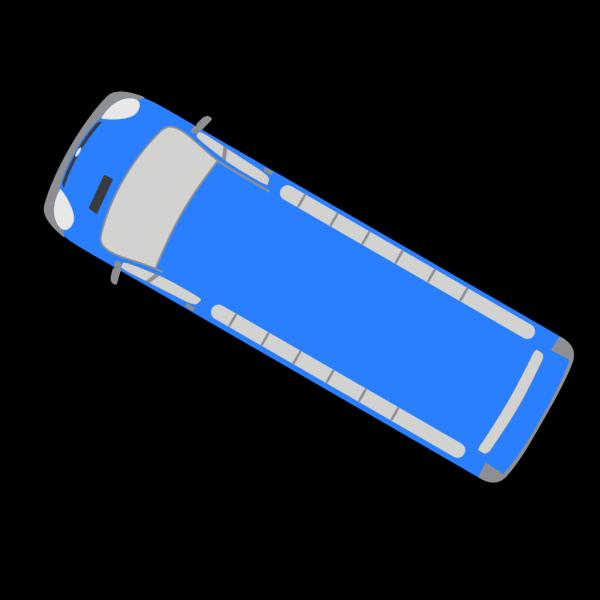 Blue Bus - 150 PNG Clip art