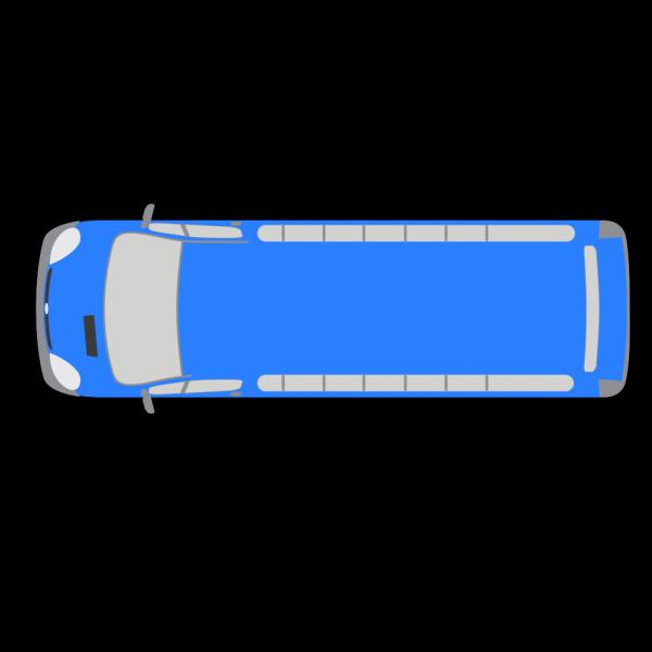 Blue Bus - 180 PNG Clip art