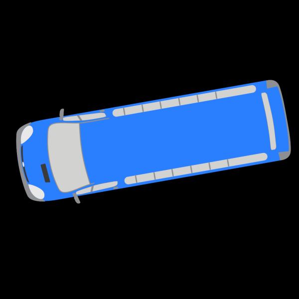 Blue Bus - 190 PNG Clip art