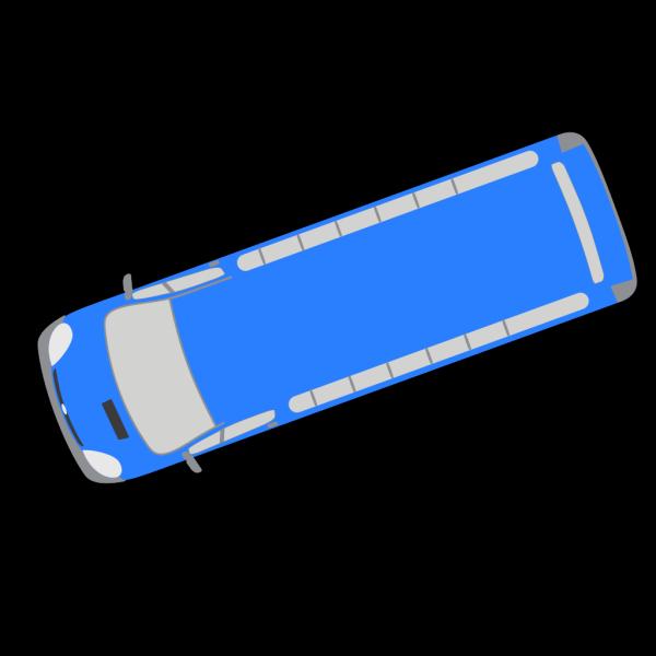 Blue Bus - 200 PNG Clip art
