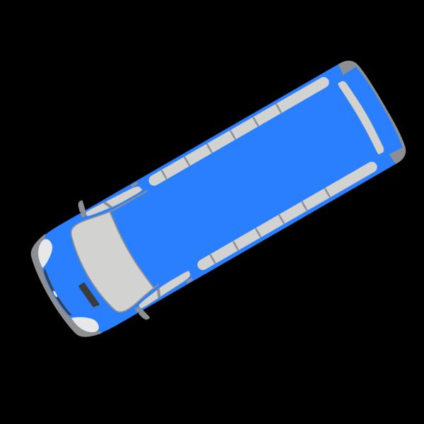 Blue Bus - 210 PNG Clip art