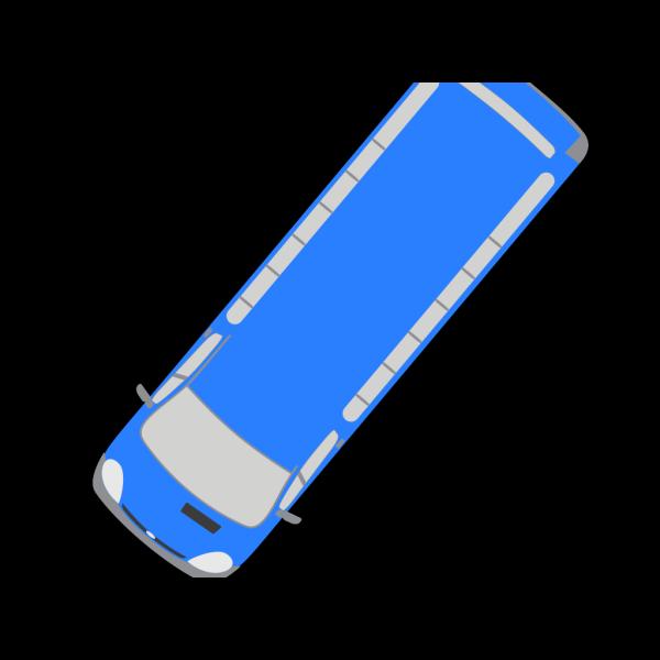 Blue Bus - 230 PNG Clip art
