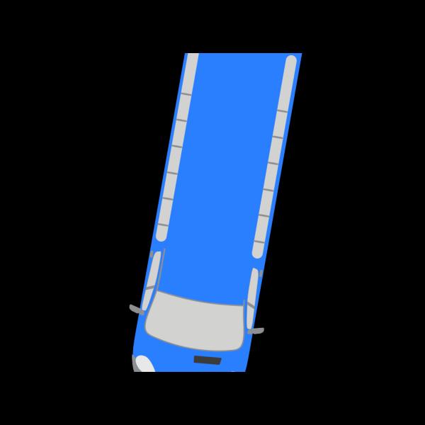 Blue Bus - 260 PNG Clip art