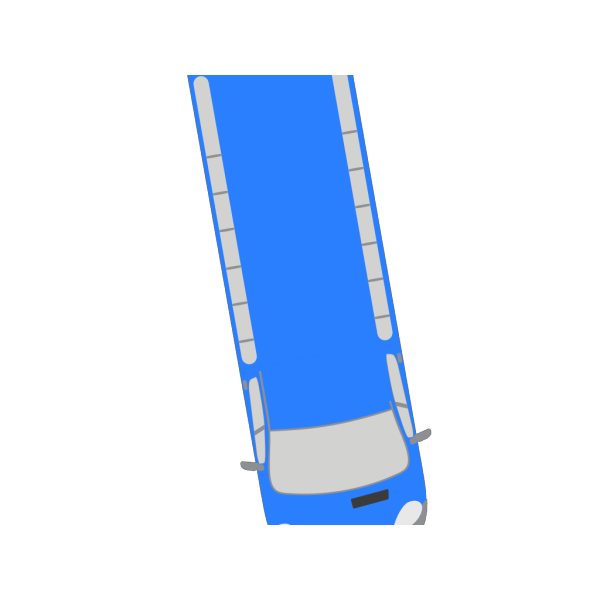 Blue Bus - 280 PNG Clip art