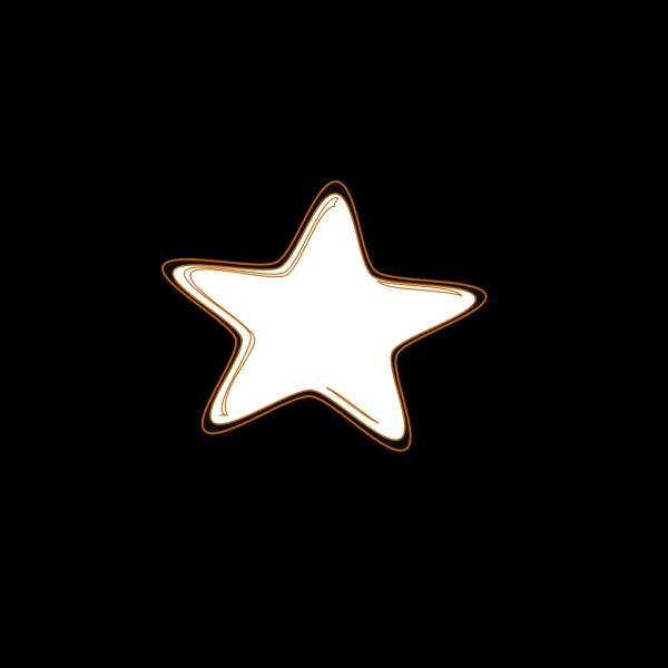 Flower Star Outline PNG Clip art