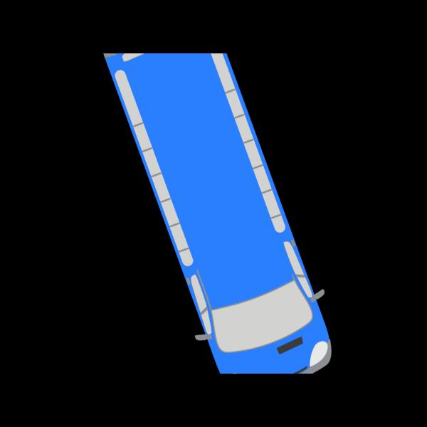 Blue Bus - 290 PNG Clip art