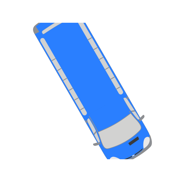 Blue Bus - 300 PNG Clip art