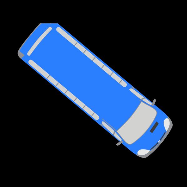 Blue Bus - 320 PNG Clip art