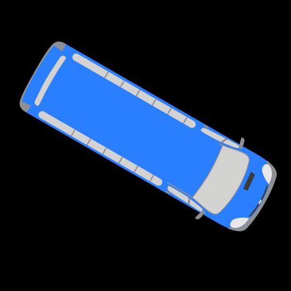 Blue Bus - 330 PNG Clip art