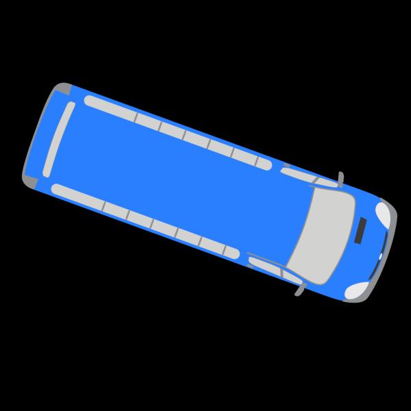 Blue Bus - 340 PNG Clip art