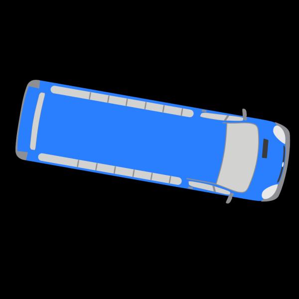 Blue Bus - 350 PNG Clip art