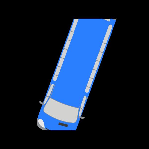 Blue Bus - 250 PNG Clip art