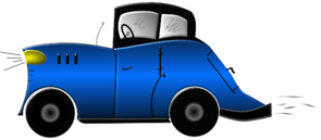 Blue Old Fashioned Car PNG Clip art