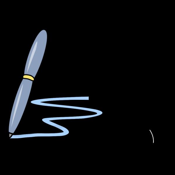 Pen With Blue Line PNG Clip art