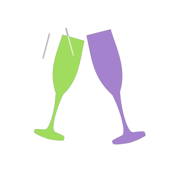 Champagne Glass Pink PNG Clip art