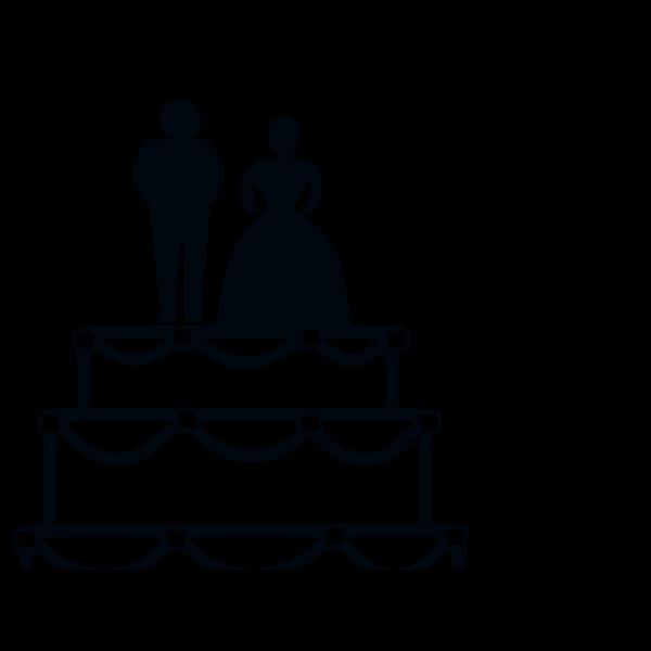 Blue Wedding Cake PNG Clip art