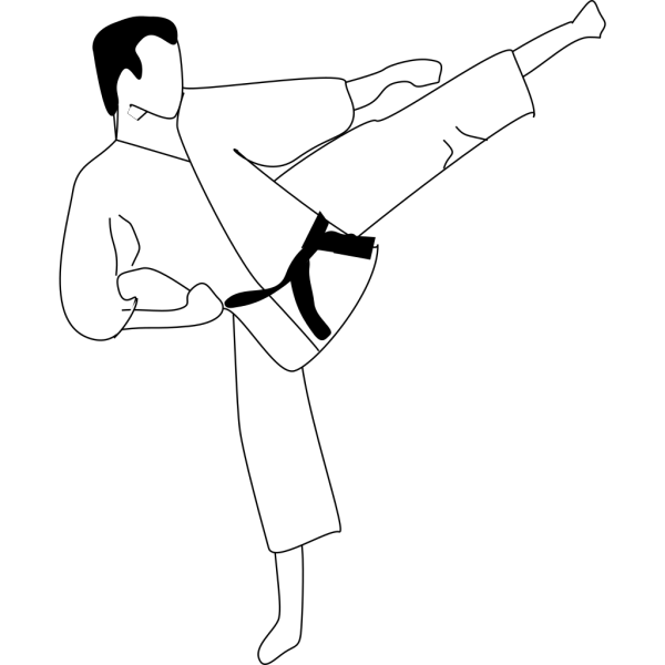 Karate Kick Silhouette PNG images