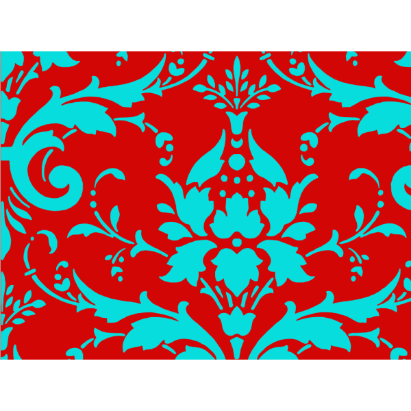Tiffany Blue Damask PNG clipart