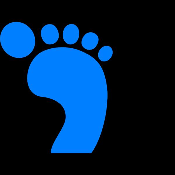 Left Footprint Blue PNG Clip art