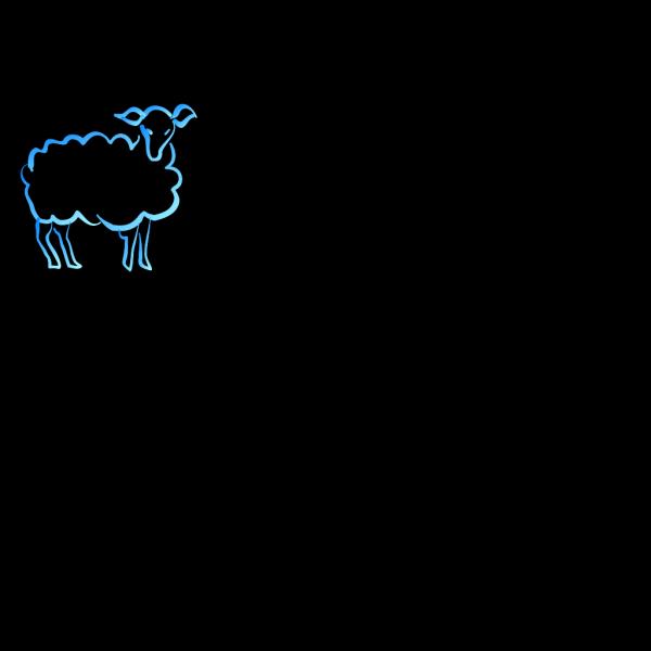 Lamb Gradient Blue Green PNG Clip art