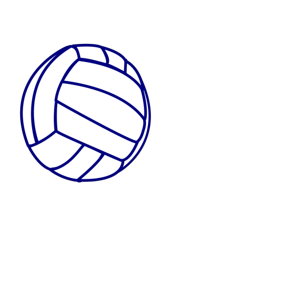 Volleyball Blue Outline PNG Clip art