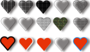 Hearts Intertwined In Lighter Colours PNG Clip art