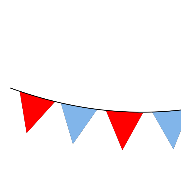 Red And Blue Bunting  PNG Clip art