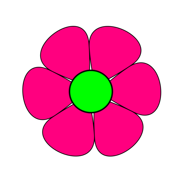 Blue Pink Flower Power PNG Clip art