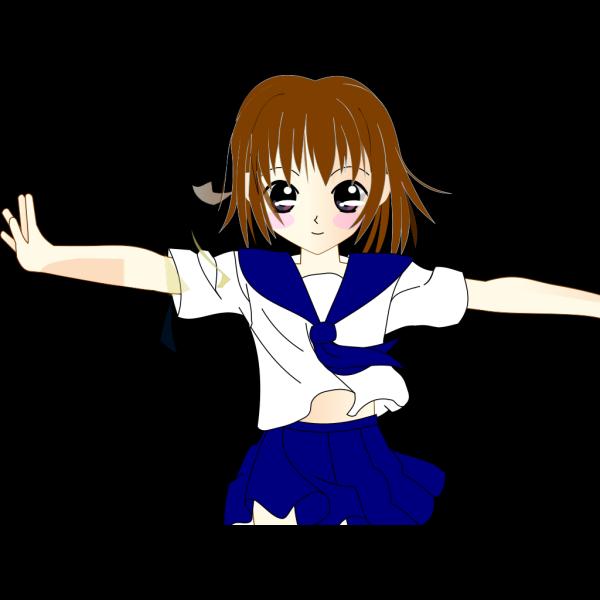 Brunette School Girl PNG icon