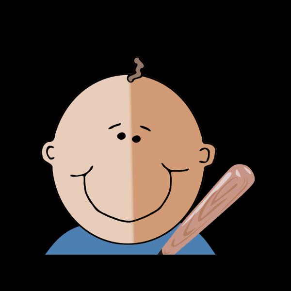 Boy With Bat PNG Clip art