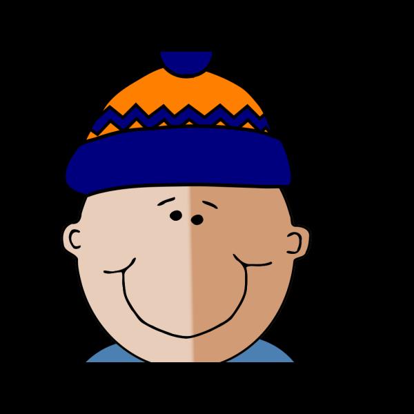 Boy In Winter Cap PNG Clip art