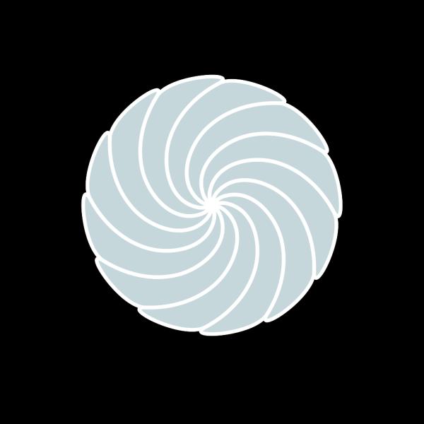 Pale Blue Spiral PNG Clip art