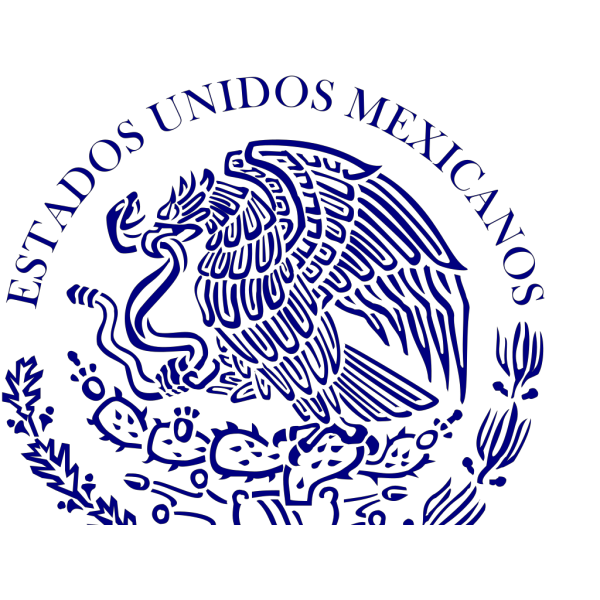 Blue Mexico Seal PNG Clip art