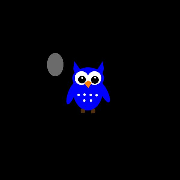 Blue Hoot Owl PNG Clip art