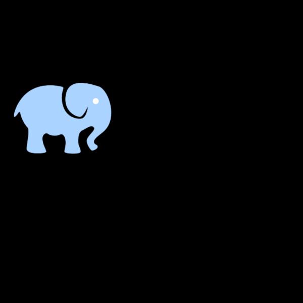 Light Blue Elephant PNG Clip art