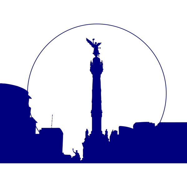 Angel Independencia Azul PNG Clip art