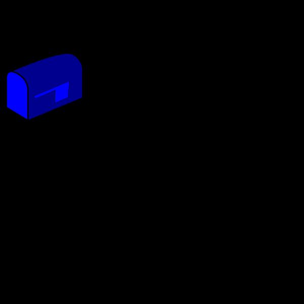 Blue Mailbox PNG Clip art