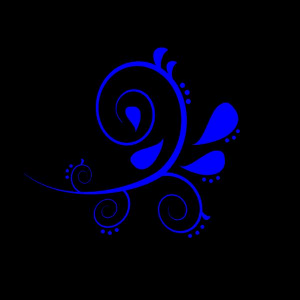 Blue Fancy Swirl PNG Clip art